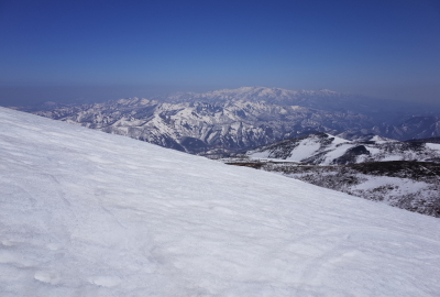 View from nearby the summit
