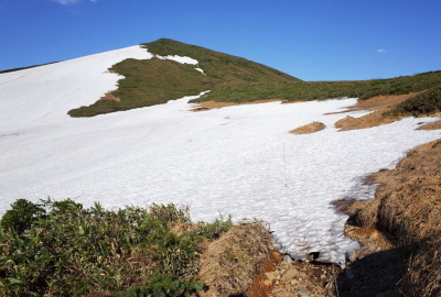 There is still some unmelted snow around June