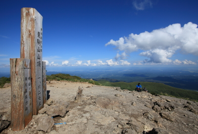 View of east (Iwate and Miyagi) from the summit