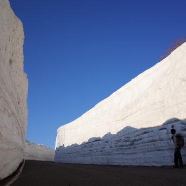 雪の回廊が出現