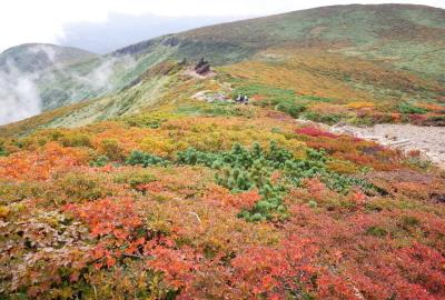 栗駒山の紅葉がはじまりました