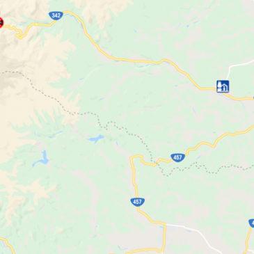 一般国道342号(一関側)13日まで通行止