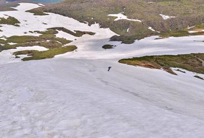 中央登山道の残雪状況